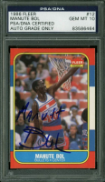 Manute Bol Signed 1986 Fleer #12 (PSA Encapsulated) at PristineAuction.com