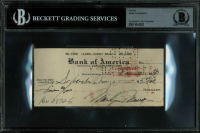 Marilyn Monroe Signed 1950 Bank Check (BAS Encapsulated) at PristineAuction.com