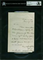 Martin Van Buren Signed 1858 Letter (BAS Encapsulated) at PristineAuction.com