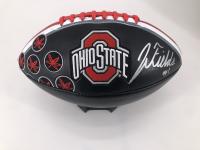 Justin Fields Signed Ohio State Buckeyes Logo Football (JSA COA) at PristineAuction.com