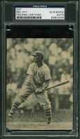 Mel Ott Signed 3.5x4.75 Newspaper Photo Cut (PSA Encapsulated) at PristineAuction.com