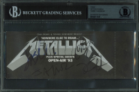 1993 Metallica Ticket Band-Signed by (4) with James Hetfield, Lars Ulrich, Kirk Hammett & Jason Newsted (BAS Encapsulated) at PristineAuction.com