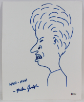 "Mike Judge Signed ""Beavis and Butt-Head"" 12x15 Hand-Drawn Sketch Inscribed ""Uh-Huh"" (Beckett COA) at PristineAuction.com"
