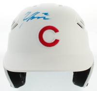Nico Hoerner & Albert Almora Signed Cubs Full-Size Matte White Batting Helmet (PSA Hologram) at PristineAuction.com
