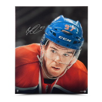 Connor McDavid Signed Oilers 20x24 Photo on Canvas (UDA COA) at PristineAuction.com