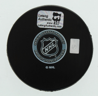 Kris Letang Signed Penguins Logo Hockey Puck (Letang Hologram) at PristineAuction.com