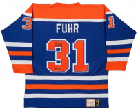 "Grant Fuhr Signed Oilers LE Jersey Inscribed ""HOF 03"" (UDA COA) at PristineAuction.com"