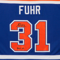 """Grant Fuhr Signed Oilers LE Jersey Inscribed """"HOF 03"""" (UDA COA) at PristineAuction.com"""