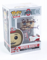 "Jim Tressel Signed ""Ohio State University"" #10 Brutus Buckeye Funko Pop! Vinyl Figure Inscribed ""Go Bucks!"" (PSA Hologram) at PristineAuction.com"