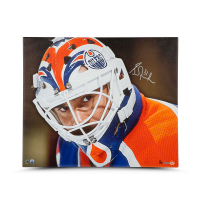 Grant Fuhr Signed Oilers 20x24 LE Photo on Canvas (UDA COA) at PristineAuction.com