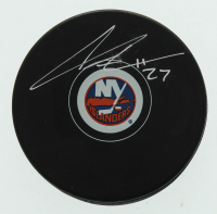 Anders Lee Signed Islanders Logo Hockey Puck (Lee COA) at PristineAuction.com