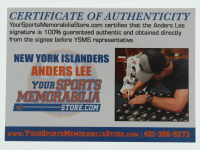 Anders Lee Signed Islanders Logo Hockey Puck (Lee COA) at PristineAuction.com