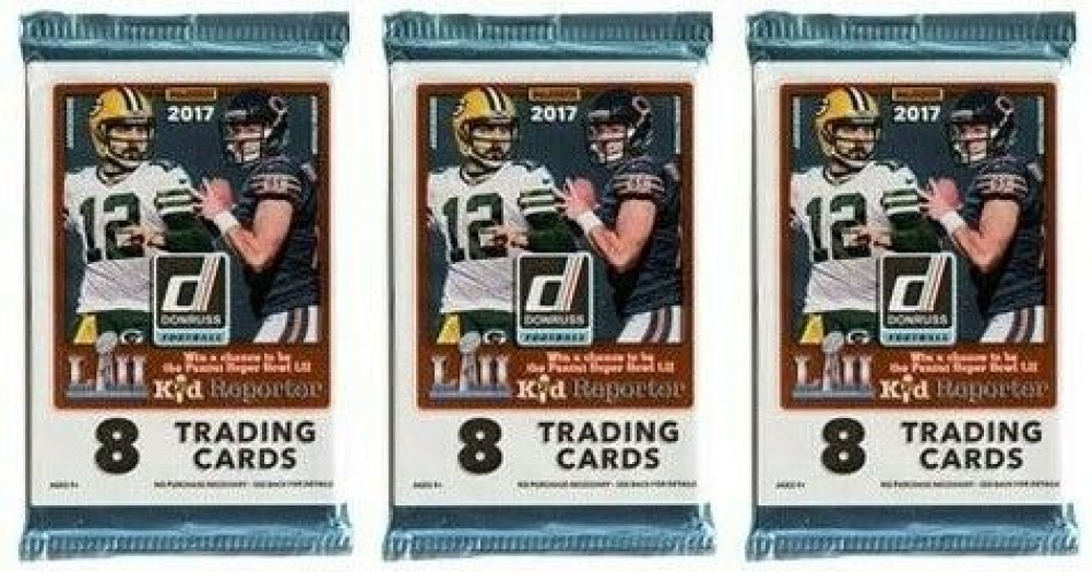 Lot of (3) 2017 Panini Donruss Football Packs of (8) Cards at PristineAuction.com