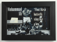 Muhammad Ali 5x7 Custom Framed Display with (1) Hand-Written Word (JSA LOA) at PristineAuction.com