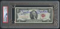 Mickey Mantle Signed Unciruclated 1963 $2 Bill (PSA Encapsulated) at PristineAuction.com