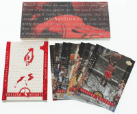 Lot of (2) Michael Jordan Basketball Card Collections with 1994 Upper Deck Complete Set of (90) Rare Air Basketball Cards & 1996-97 Upper Deck Greater Heights Complete Set of (10) Cards at PristineAuction.com