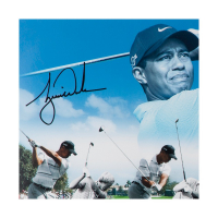 Tiger Woods & Jack Nicklaus Signed 18x36 Photo (UDA COA) at PristineAuction.com