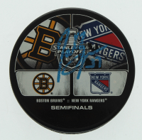 Patrice Bergeron Signed Bruins 2013 Stanley Cup Playoffs Puck (Bergeron COA) at PristineAuction.com