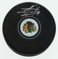 Jonathan Toews Signed Blackhawks Logo Hockey Puck (FSM COA) at PristineAuction.com