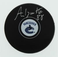 Adam Gaudette Signed Canucks Logo Hockey Puck (Gaudette Hologram) at PristineAuction.com