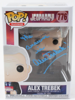 """Alex Trebek Signed """"Jeopardy"""" #776 Funko Pop! Vinyl Figure Inscribed """"The Answer Is"""" (PSA COA) at PristineAuction.com"""