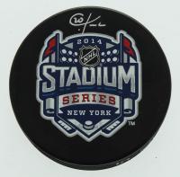 Chris Kreider Signed 2014 Stadium Series Logo Hockey Puck (Kreider COA) at PristineAuction.com