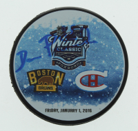 David Pastrnak Signed 2016 Winter Classic Logo Official Game Puck (Pastrnak COA) at PristineAuction.com
