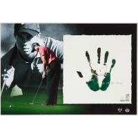 "Tiger Woods Signed 20x28 Custom Framed LE Tegata Lithograph Display Inscribed ""08 U.S. Open Champ"" (UDA COA) at PristineAuction.com"
