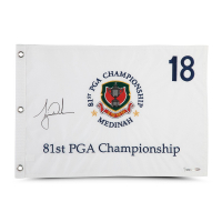 Tiger Woods Signed LE 1999 PGA Championship Pin Flag (UDA COA) at PristineAuction.com