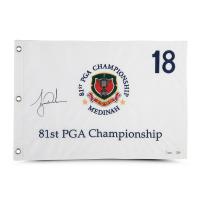 Tiger Woods Signed LE 1999 PGA Championship Pin Flag (UDA COA) at PristineAuction.com