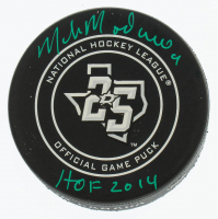 "Mike Modano Signed Stars Logo Puck Inscribed ""HOF 2014"" (COJO COA) at PristineAuction.com"