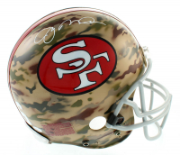 Joe Montana Signed 49ers Full-Size Authentic On-Field Camo Helmet (Sports Integrity COA & JSA Hologram) at PristineAuction.com