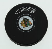 Patrick Kane Signed Blackhawks Logo Hockey Puck (FSM COA) at PristineAuction.com