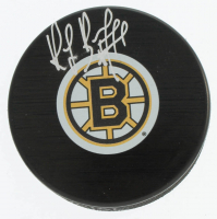 Ray Borque Signed Bruins Logo Hockey Puck (COJO COA) at PristineAuction.com