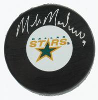 Mike Modano Signed Stars Logo Puck (COJO COA & Frozen Pond Hologram) at PristineAuction.com