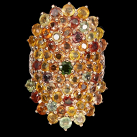 7.90ct Natural Multi-Colored Sapphire & Ruby Ring (GAL Certified) at PristineAuction.com