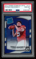 Patrick Mahomes II 2017 Donruss Optic #177 Rated Rookie RC (PSA 10) at PristineAuction.com