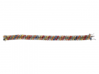 23.75ct Natural Multi-Colored Sapphire & Ruby Bracelet (GAL Certified) at PristineAuction.com
