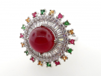 8.51ct Natural Ruby & Multi-Gemstone Ring (GAL Certified) at PristineAuction.com