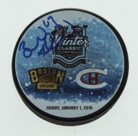 Brad Marchand Signed Bruins 2016 Winter Classic Logo Hockey Puck (Marchand COA) at PristineAuction.com