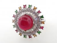 9.13ct Natural Ruby & Multi-Gemstone Ring (GAL Certified) at PristineAuction.com