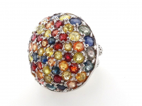 9.75ct Natural Multi-Colored Sapphire Ring (GAL Certified) at PristineAuction.com
