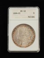 1884-CC Morgan Silver Dollar (ANACS MS 63) at PristineAuction.com