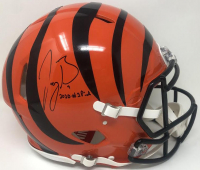 "Joe Burrow Signed Bengals Full-Size Authentic On-Field Speed Helmet Inscribed ""2020 #1 Pick"" (Fanatics Hologram) at PristineAuction.com"