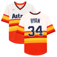 "Nolan Ryan Signed Astros Jersey Inscribed ""H.O.F. '99"" (MLB Hologram) at PristineAuction.com"