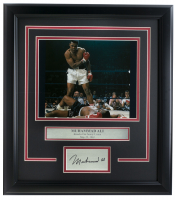 Muhammad Ali 14x18 Custom Framed Photo Display at PristineAuction.com
