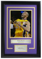Kobe Bryant Lakers 14x18 Custom Framed Photo Display at PristineAuction.com