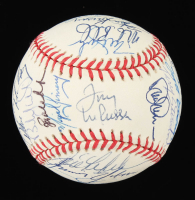 Oakland Athletics OAL Baseball Signed by (30) with Mark McGwire, Rickey Henderson, Tony LaRussa, Dennis Eckersley (JSA ALOA) at PristineAuction.com