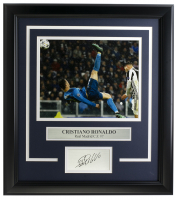 Cristiano Ronaldo Real Madrid 14x18 Custom Framed Photo Display at PristineAuction.com