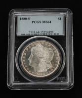 1880-S Morgan Silver Dollar (PCGS MS64) at PristineAuction.com